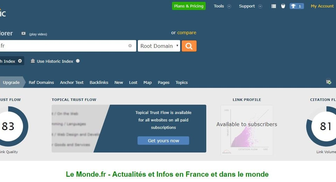 How to have a backlink to lemonde.fr